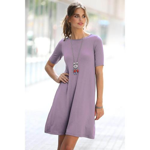 3 Suisses - ROBE COL ROND FINITION EVAS? - Robes femme