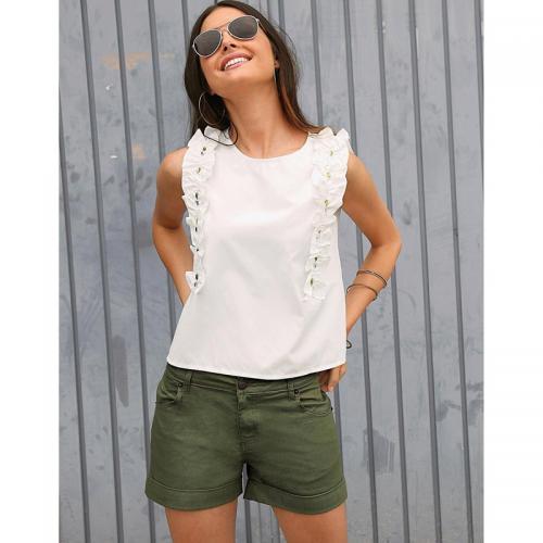 3d9ab13ed7248 3 SUISSES - Short femme - Vert - Short