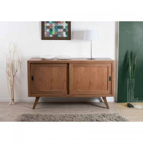 Buffet 2 portes coulissantes style scandinave - Cannelle