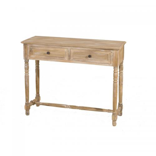 3 SUISSES - Console rectangulaire 2 tiroirs - Naturel - Salon