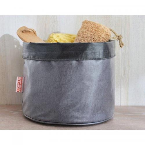 Corbeille enduite - Gris 3 Suisses Home Maison Pratique
