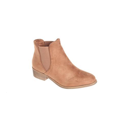 2c03a3c6f6c9 3 SUISSES - Bottines élastiques latéraux femme - Beige - Chaussures femme