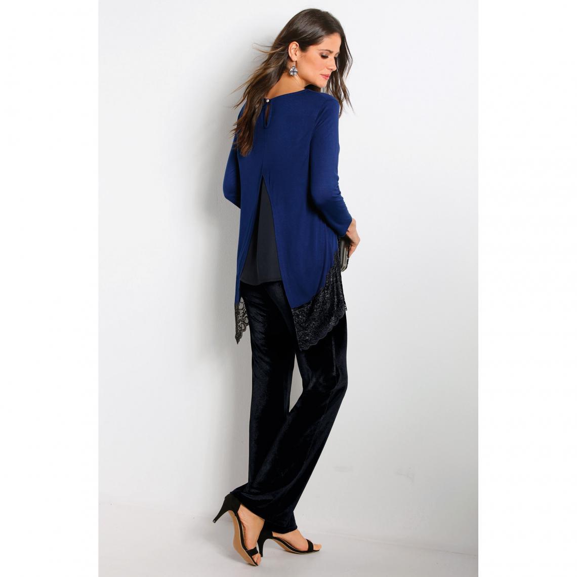 12241ed666c2f Pantalon habillé en velours femme Exclusivité 3SUISSES - Noir   3Suisses