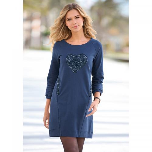 fc7986093e30 3 SUISSES - Robe courte cintrée manches 3 4 bas côtelé et poches femme -