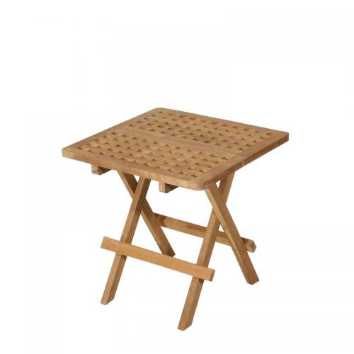 Table pique-nique carrée en teck massif - Teck