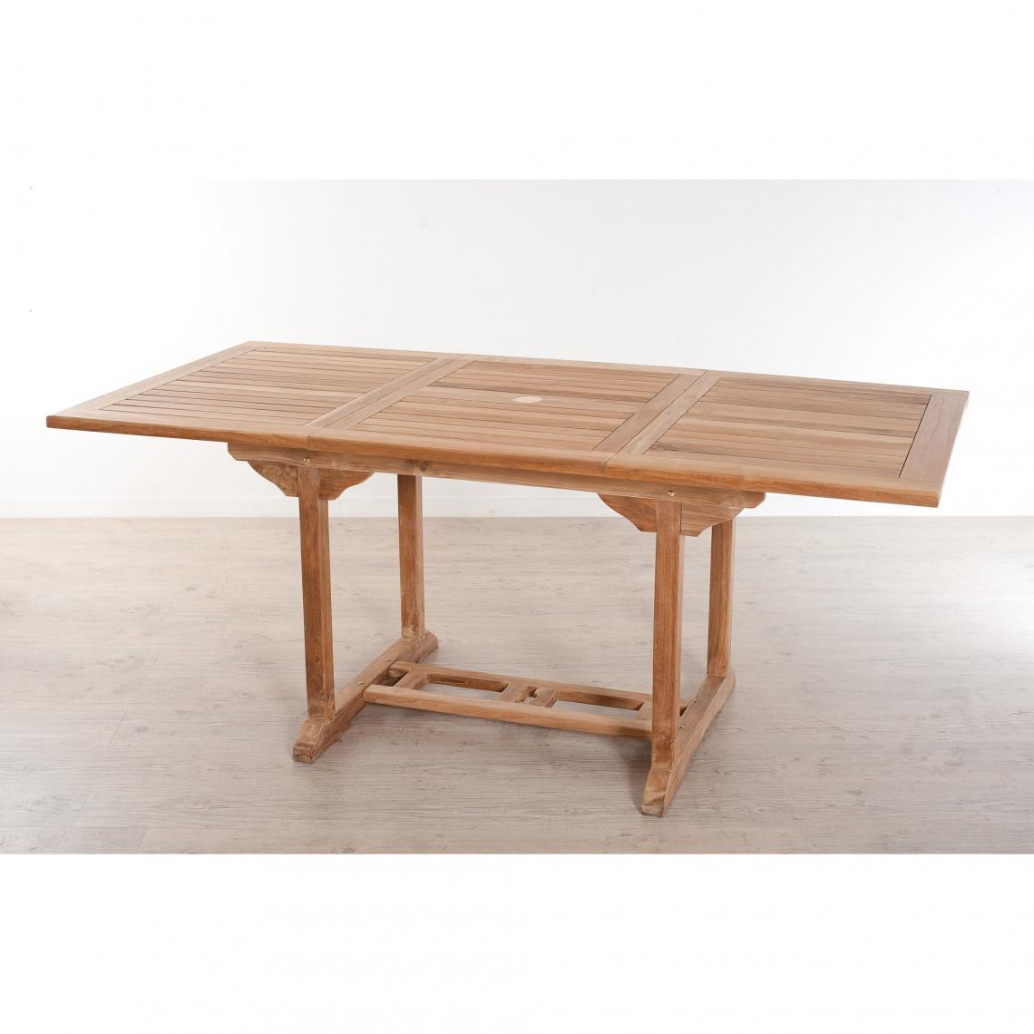 Table rectangulaire extensible 4/6 personnes en teck massif ...