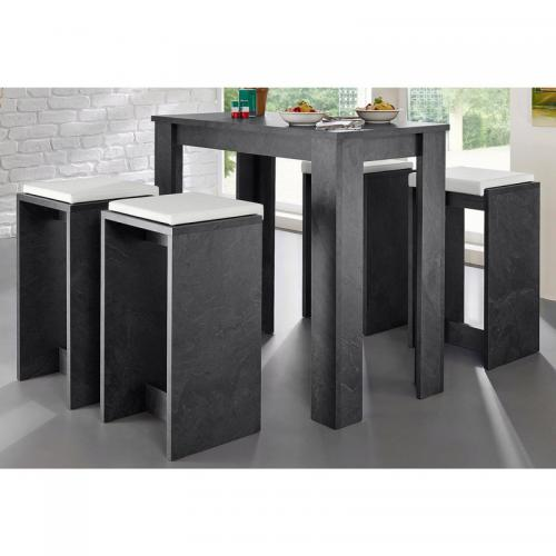 table haute 6 personnes multicolore 3 suisses. Black Bedroom Furniture Sets. Home Design Ideas