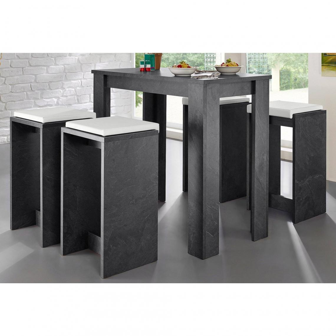 table haute 6 personnes multicolore 3 suisses. Black Bedroom Furniture Sets. Home Design Ideas