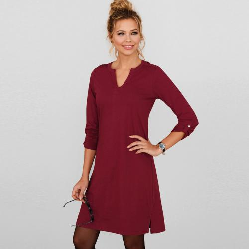 Robe Femme Robe Manche Longue Rouge Rouge ED2IYeHbW9