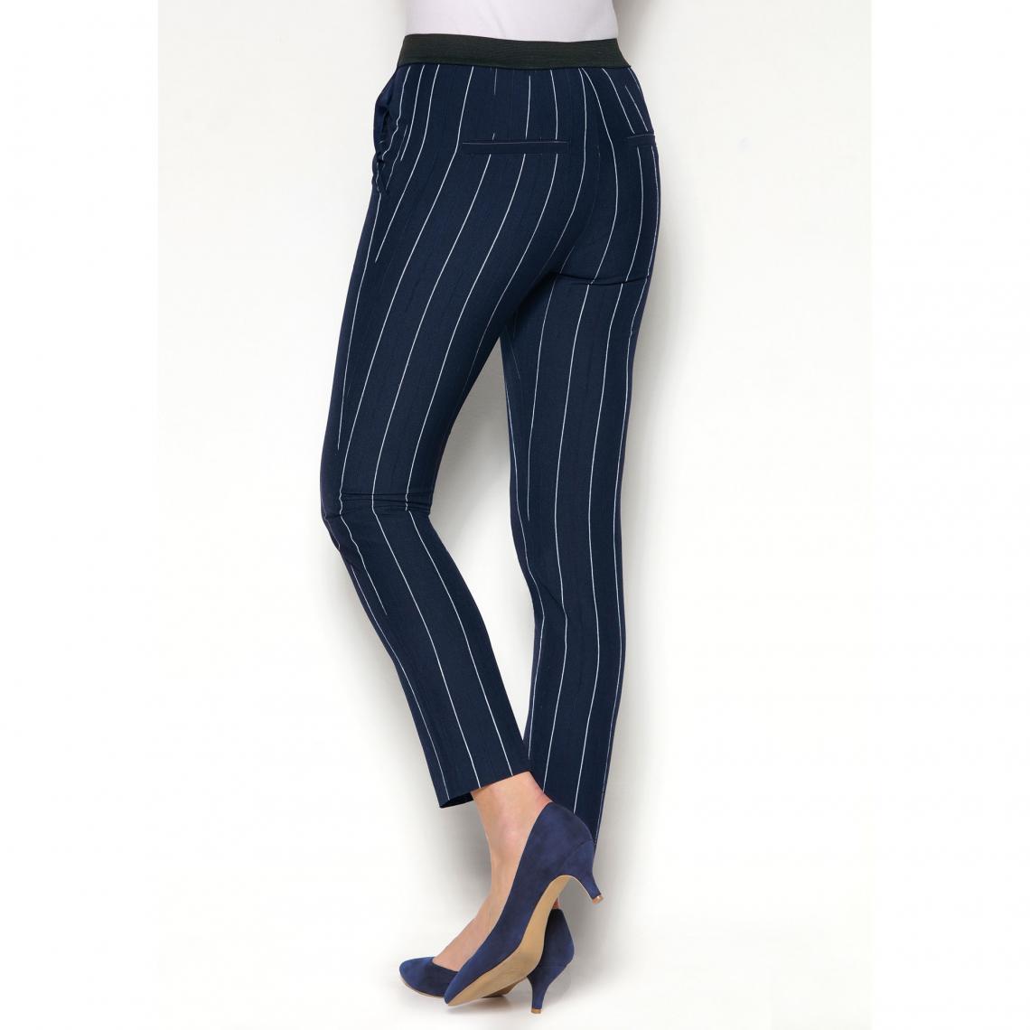 3ad8d3d0d74a7 Pantalons imprimés femme 3 Suisses Cliquez l image pour l agrandir. Pantalon  rayé taille élastique poches et pinces dos femme exclusivité ...