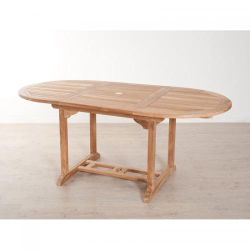 Table ovale extensible 4/6 personnes en teck massif - Teck - 3 SUISSES