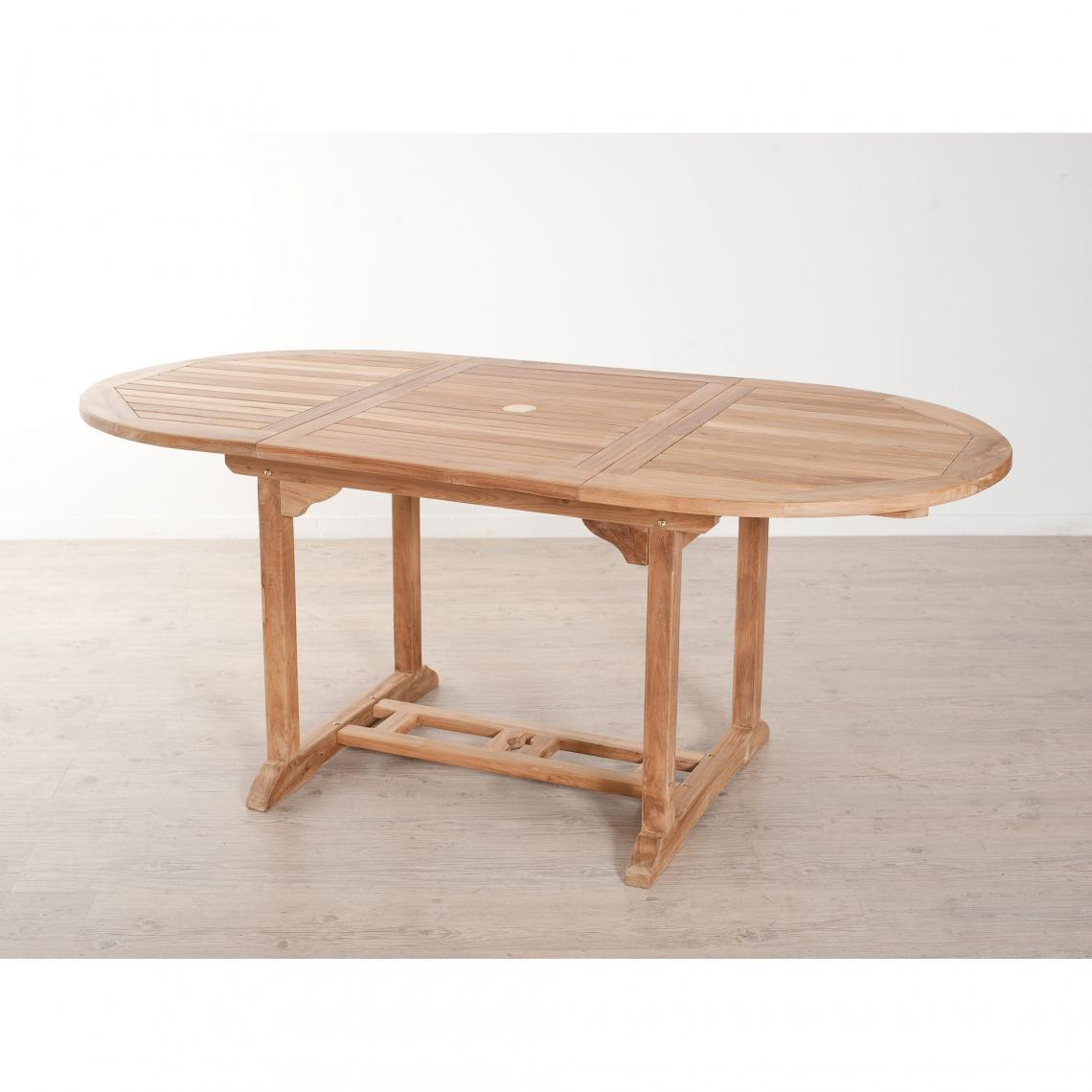 Table Ovale Extensible 4 6 Personnes En Teck Massif Teck