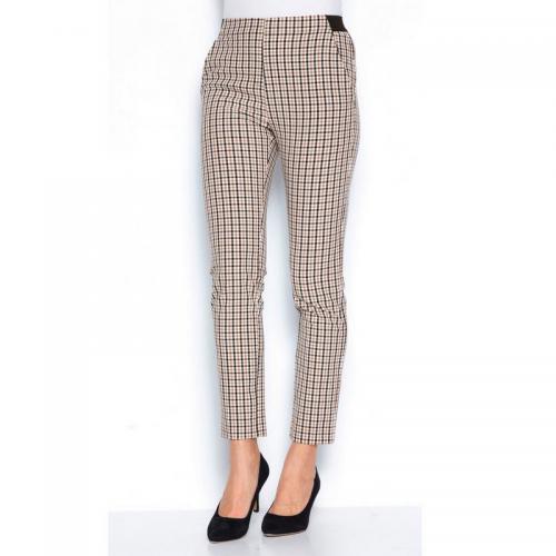 a22fa50ca8f 3 SUISSES - Pantalon à carreaux taille élastique pinces et poches femme -  Carreaux Noir -