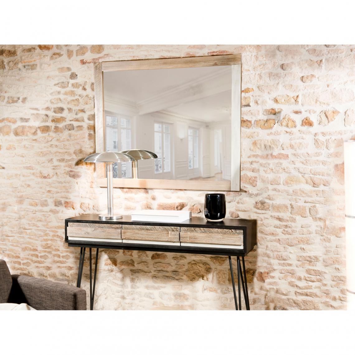 miroir mural rectangulaire avec cadre style industriel. Black Bedroom Furniture Sets. Home Design Ideas