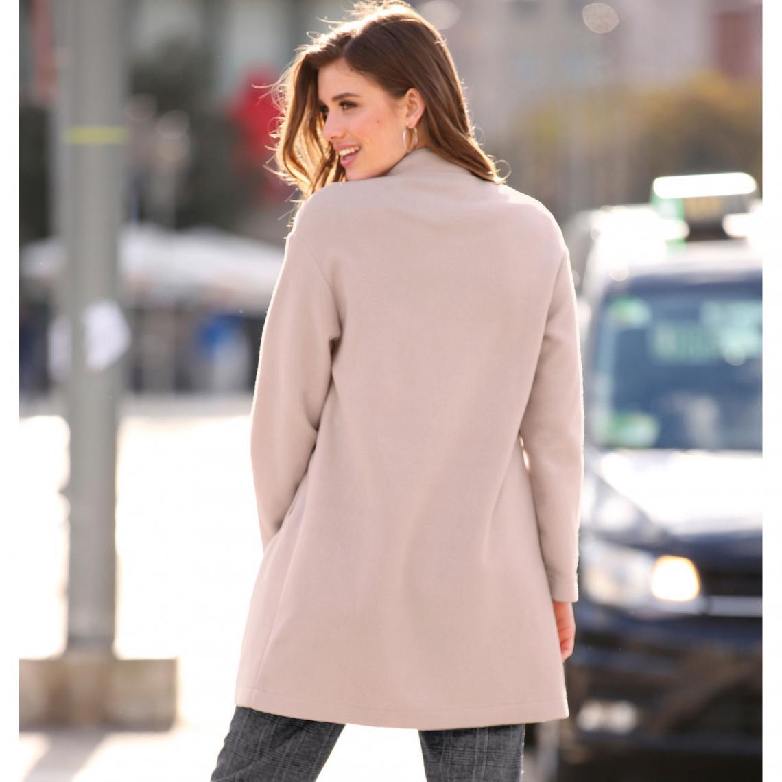 Manteau Zippé Femme Longues 3suisses Arrondi Exclusivité Manches Col rrwqZRxfT