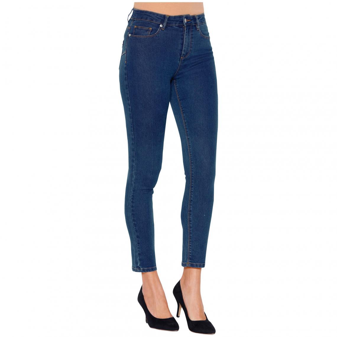 dd7475e1183f9 ... taille haute pierres fantaisie sur poche femme exclusivité 3Suisses - bleu  foncé 3 Suisses Cliquez l image pour l agrandir  Jeans skinny femme 3  Suisses