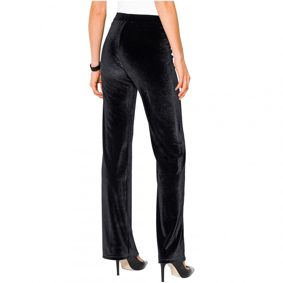 Habillé Pantalon Noir3 Suisses Femme En Velours dQxerWCBoE