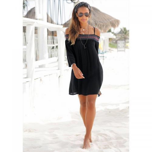 42d4159526c 3 SUISSES - Robe de plage femme RED Label S Oliver - Noir - Robes de