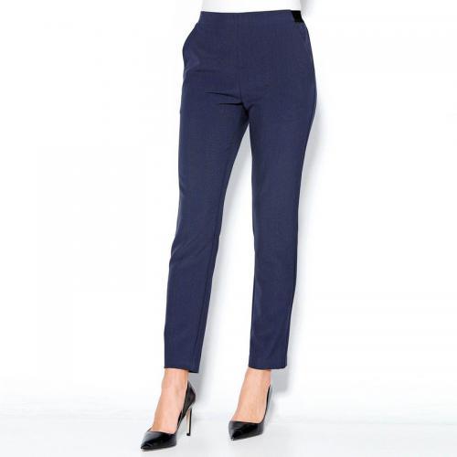 131d3124755bd 3 SUISSES - Pantalon taille élastique et pinces dos femme - Bleu - Pantalons  slim femme