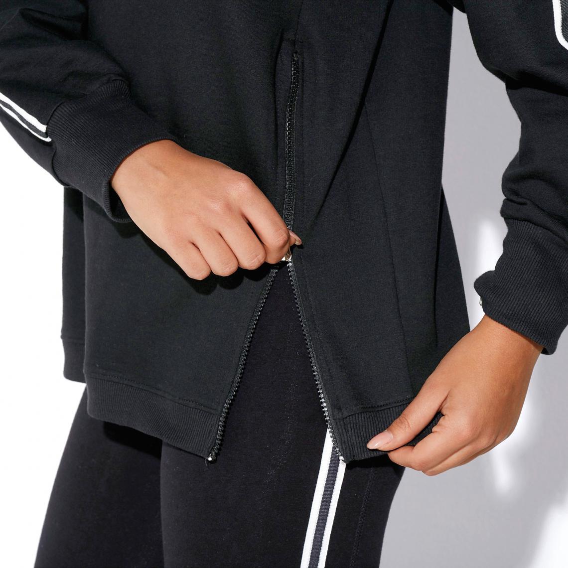 e98fdb44b7f Sweats de sport femme 3 SUISSES Cliquez l image pour l agrandir. Sweat  fitness manches longues zips devant femme - Noir ...