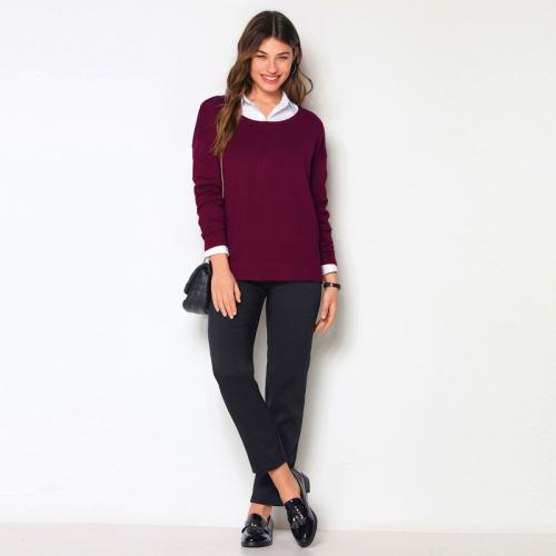 b543276855aee 3 Suisses - Pantalon poches latérales pinces dos femme Exclusivité 3SUISSES  - Noir - Pantalons femme