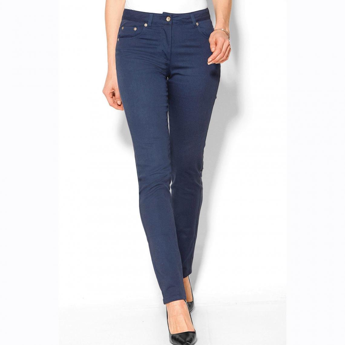 Pantalon élastique taille haute 5 poches - 3 SUISSES - Modalova