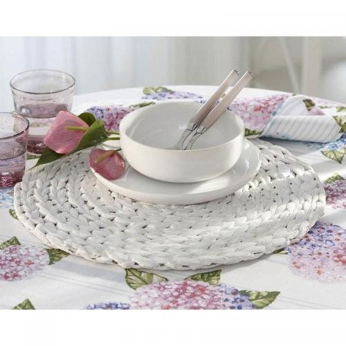 3 Suisses Home - Lot de 4 dessous d'assiettes ronds - Blanc - Sets, chemins de table