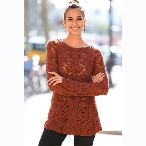 e6b5950a7543 3 SUISSES - Pull manches longues grosse maille femme - Pulls femme