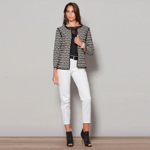 baa3c6b3bfd32 3 Suisses - Jean boyfriend 5 poches taille haute femme Exclusivité 3SUISSES  - Blanc - C