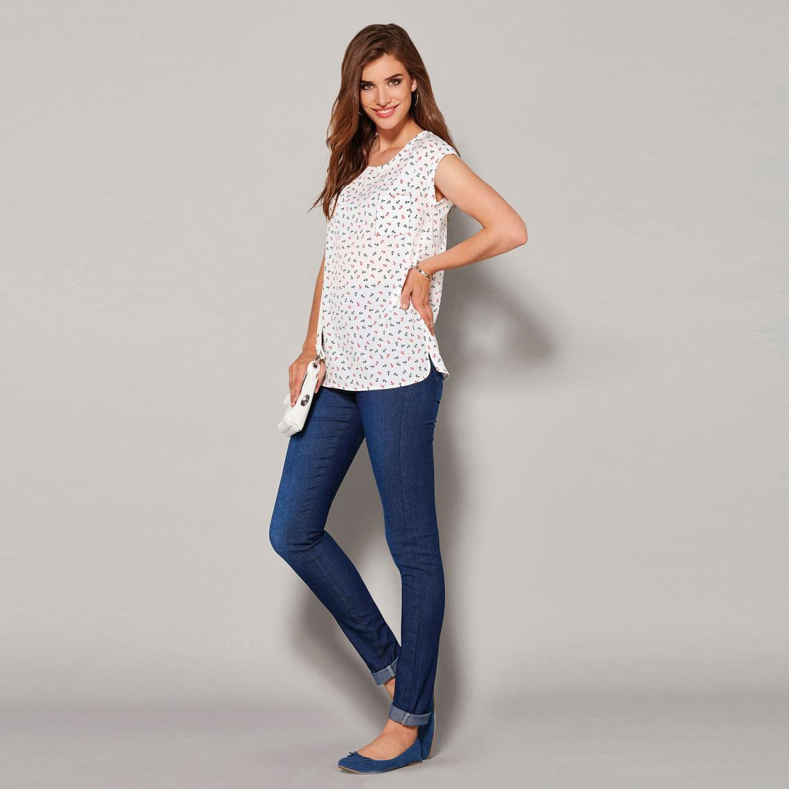Tregging en jean élastique - Bleu - 3 SUISSES - Modalova