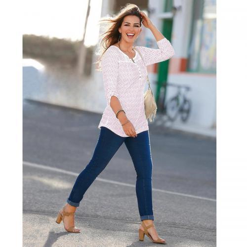 72f8ddd97b5 3 SUISSES - Jean taille élastique plane grandes tailles femme - Denim Foncé  - Mode Grande