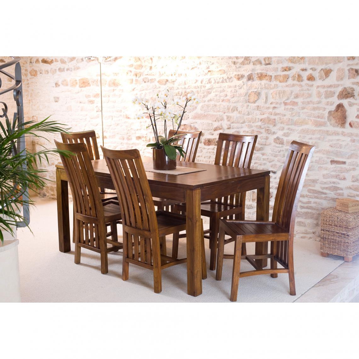 Table A Manger Rectangulaire Avec Rallonge 160x200 Cm En Bois