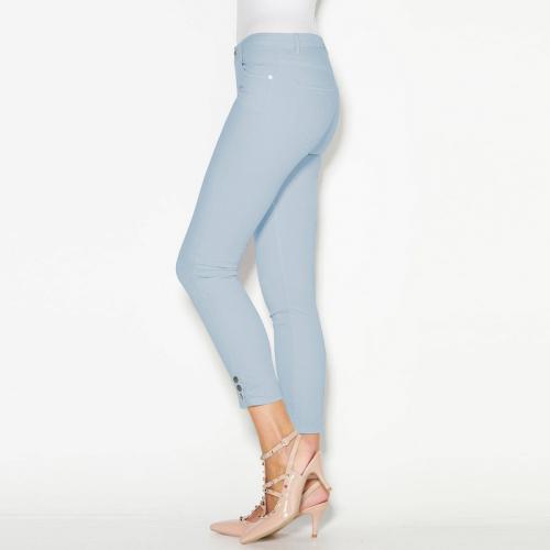 3 SUISSES - Pantalon skinny 5 poches pressions sur bas femme Exclusivité  3SUISSES - Bleu - 393f3753893