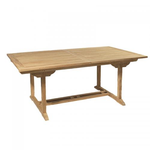 3 SUISSES - Table rectangulaire extensible 8/10 personnes en teck massif - Teck - Table de jardin