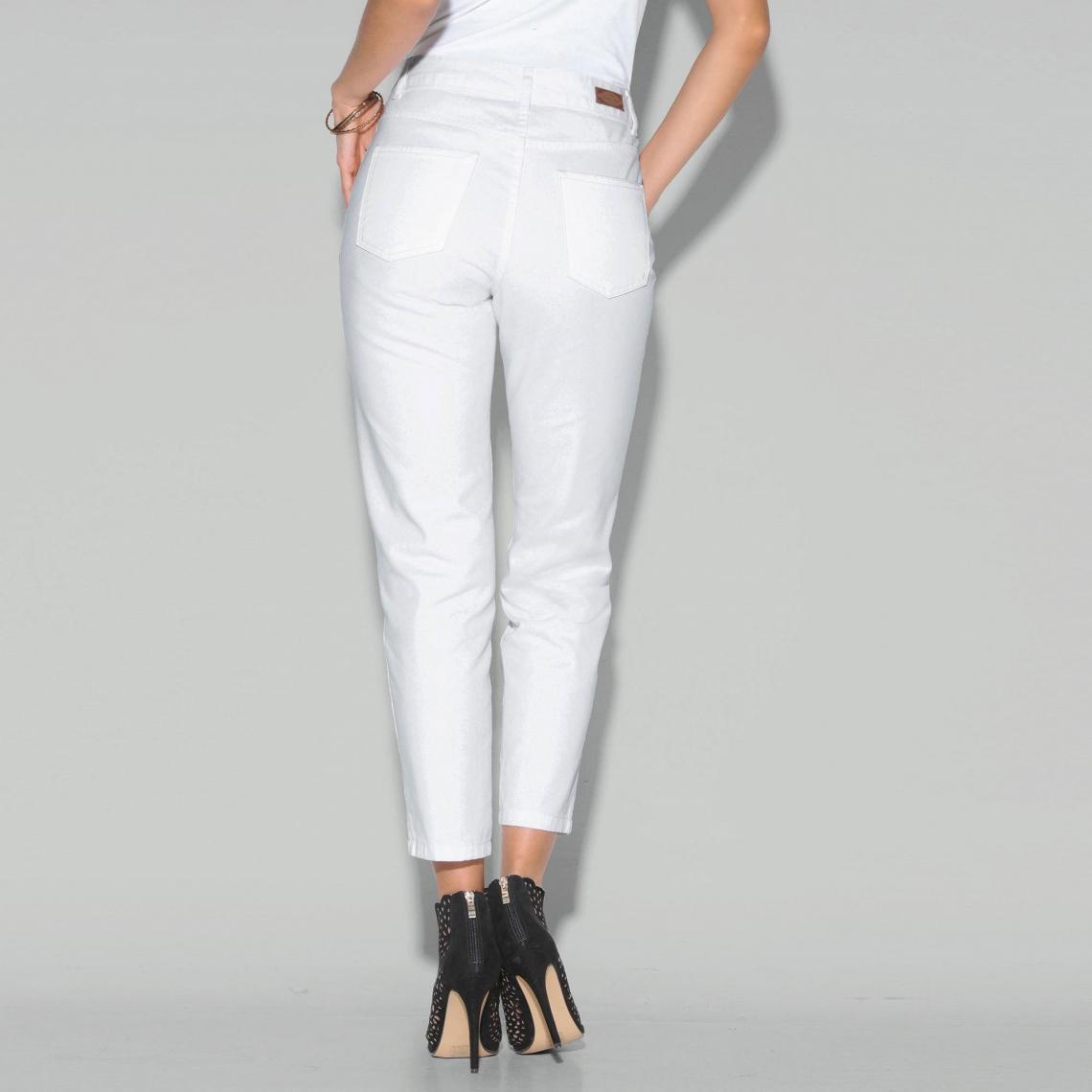 6c8a7fdd7210 Jean boyfriend 5 poches taille haute femme - Blanc 3 SUISSES