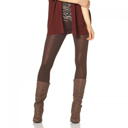 Melrose - Legging stretch effet légèrement brillant femme Chillytime - Marron - Leggings, treggings femme