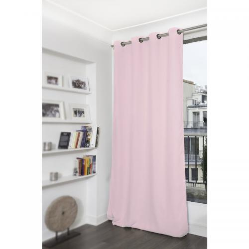 Moondream - Rideau occultant thermique à oeillets Moondream - Rose - Promos Linge de Maison