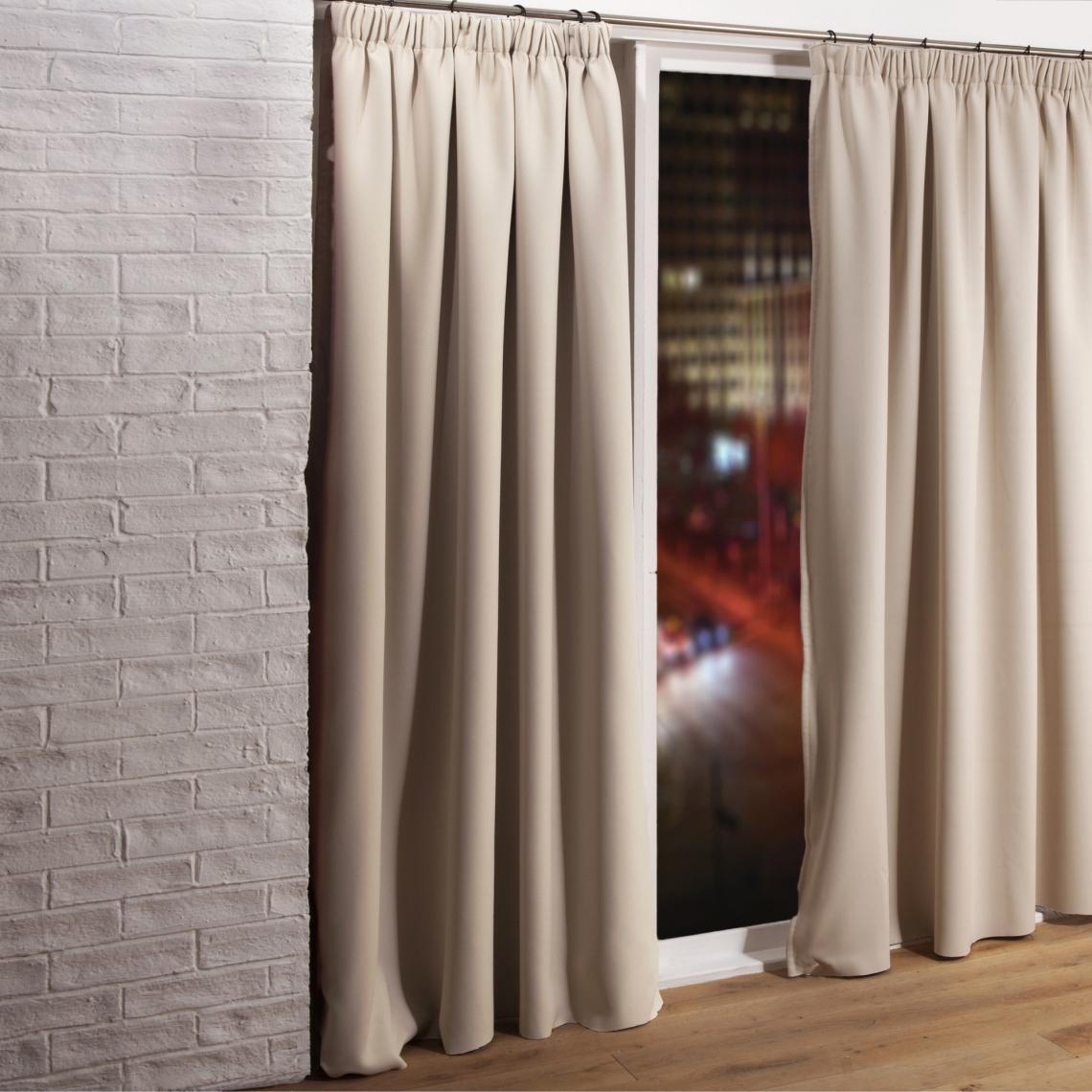 rideau phonique occultant et thermique 3 couches galon fronceur moondream blanc 3 suisses. Black Bedroom Furniture Sets. Home Design Ideas