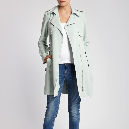 Morgan - Trench Long Morgan femme - Azur - Trench