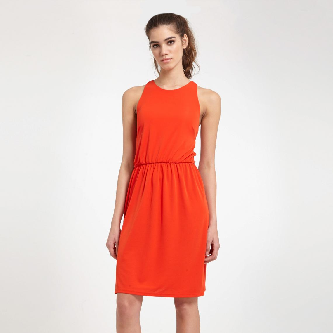 e29b573e2f7 Robe courte femme Morgan - Orange Morgan Femme