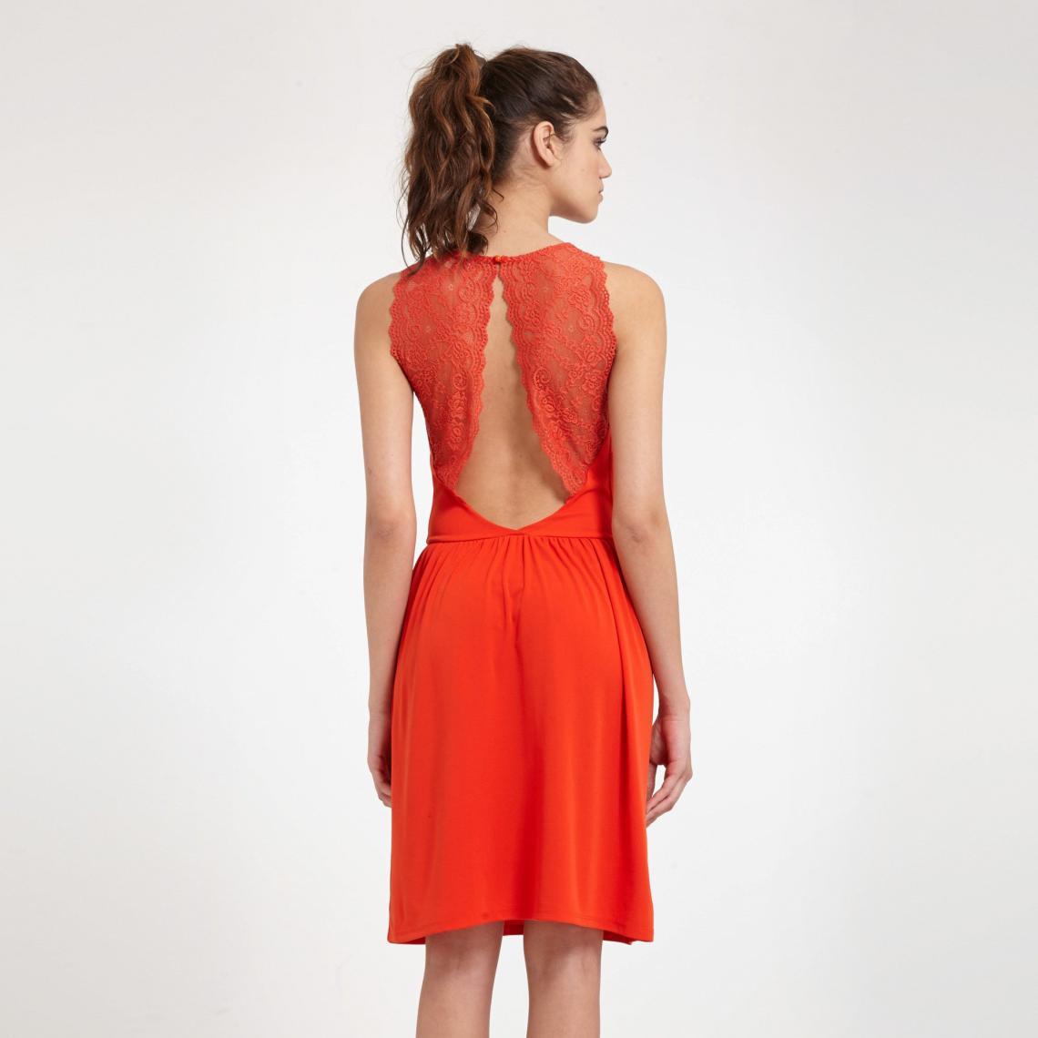 e06562bbd0a Robe courte femme Morgan - Orange