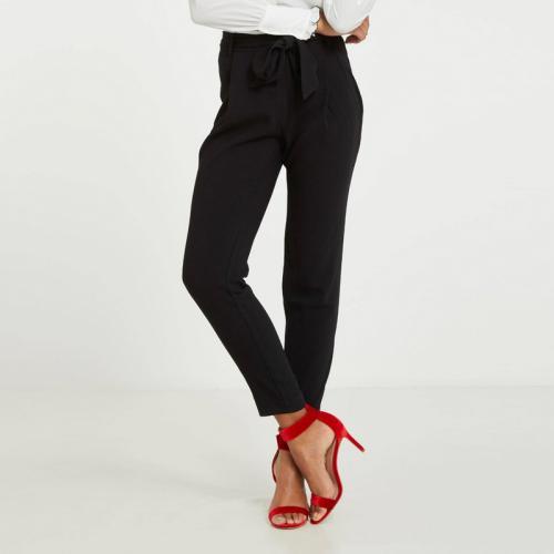 d697e0b3fa61 Morgan - Pantalon fluide taille haute femme Morgan - Noir - Pantalons femme