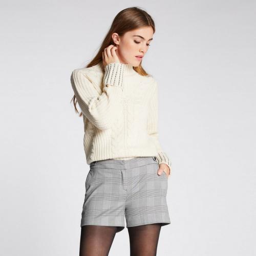 Morgan - Pull en maille torsadée avec studs - écru - Nouveautés Mode Femme bb10443e598