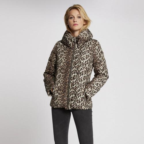 afd5b957986 Morgan - Doudoune à capuche imprimé léopard - Multicolore - Doudounes femme