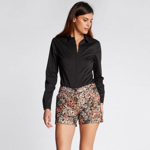b1fcf6b8b6c Morgan - Chemisier détails strass - Blanc - Nouveautés Mode Femme