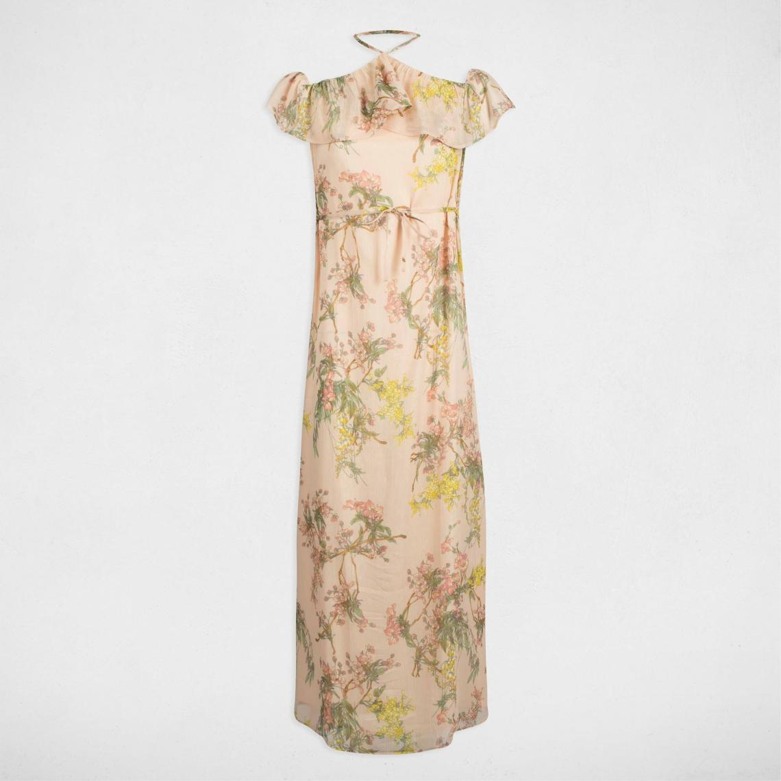 78de94b414282 Robe longue imprimée encolure volantée femme Morgan - Rose Morgan