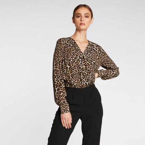 59fcd9e86b8 Morgan - Combinaison pantalon imprimé animalier - Noir - Nouveautés combinaisons  femme