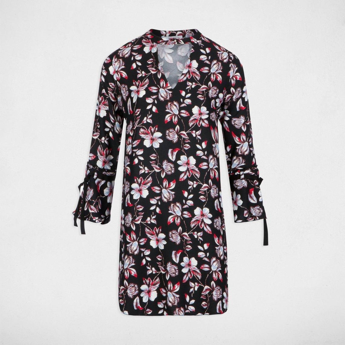 96f1f927f3a99 Robe bohème décolletée à motifs fleuris femme Morgan - Multicolore Morgan