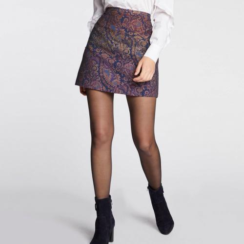 8aa72ac9402 Morgan - Jupe courte imprimé jacquard oriental - Violet - Nouveautés jupes  femme