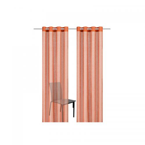 my home - Rideau »Regina« (lot de 2) - Orange - Linge de maison